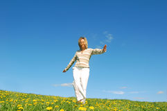 Woman having fun Royalty Free Stock Images