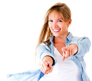 Woman having fun Stock Photography