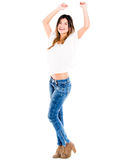 Woman having fun Royalty Free Stock Images