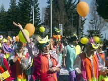 Woman having fun at carnival