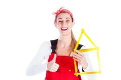 Woman having fun at home Stock Image