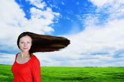 Woman having fun outdoor Stock Photo