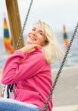 Woman having fun outdoors Royalty Free Stock Photos