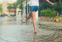 Woman having fun. Royalty Free Stock Photo