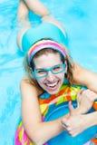 Girl in aquapark Stock Photography
