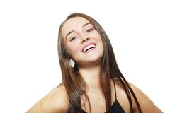 Woman having a good laugh Stock Images
