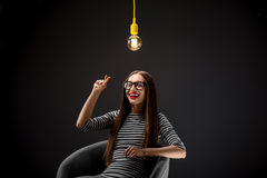 Woman having great idea Royalty Free Stock Images