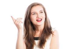 Woman having a great ideea Stock Image