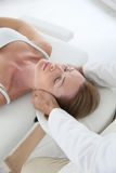 Woman having a head massage Royalty Free Stock Images