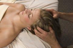 Woman Having Head Massaged Stock Photography