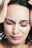 Woman having headache Royalty Free Stock Photography