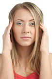 Woman having a headache Stock Photos