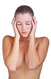 Woman having a headache Stock Photography