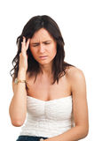 A woman having headache Stock Image