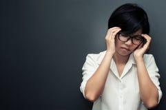 Woman having headache. Stock Photography
