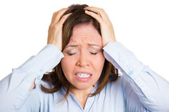 Woman having headache Stock Photos