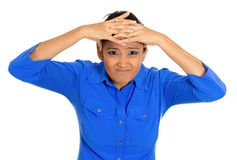 Woman having headache Royalty Free Stock Photography