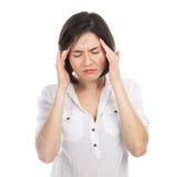 Woman having a headache Stock Photos