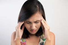 Woman having a headache Stock Photo