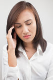 Woman having a headache Royalty Free Stock Image