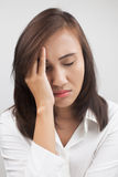 Woman having a headache Royalty Free Stock Images