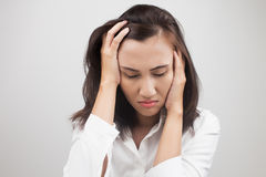 Woman having a headache Royalty Free Stock Image
