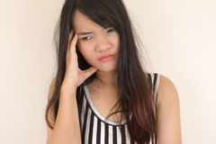 Woman having a headache. Stock Image