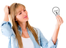 Woman having an idea Stock Photo