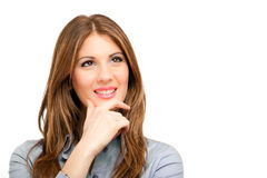 Woman having an idea isolated Royalty Free Stock Image
