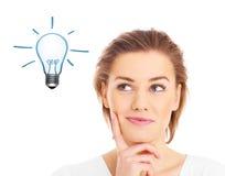 Woman having idea Stock Image