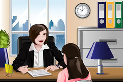 Woman having a job interview Stock Images