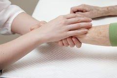 Woman having manicure Royalty Free Stock Photo