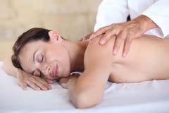 Woman having a massage Stock Photo