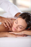 Woman having a massage stock image
