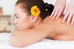 Woman having a massage Stock Photography
