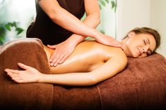 Woman having massage Royalty Free Stock Photography