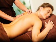Woman having massage Stock Photo