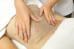 Woman having massage of body Stock Photos