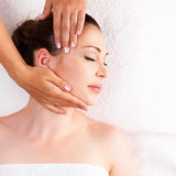 Woman having massage of body in spa salon Royalty Free Stock Photos
