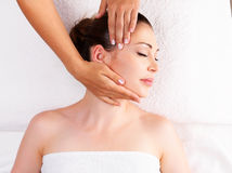 Woman having massage of body in spa salon Royalty Free Stock Photography