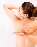 Woman having massage of body in spa salon Royalty Free Stock Photos