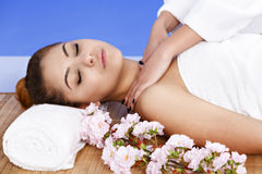 Woman having massage of body in the spa salon. Beauty treatment Royalty Free Stock Photography