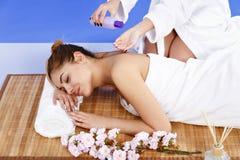 Woman having massage of body in the spa salon. Beauty treatment Royalty Free Stock Photos