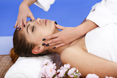 Woman having massage of body in the spa salon. Beauty treatment Stock Photography