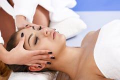 Woman having massage of body in the spa salon. Beauty treatment Royalty Free Stock Photo