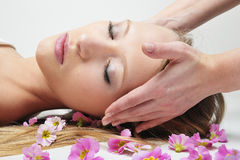 Woman Having Massage In Spa Royalty Free Stock Photos