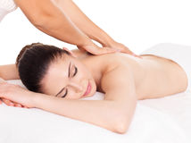 Free Woman Having Massage Of Body In Spa Salon Stock Images - 31576714