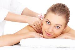 Woman having massage royalty free stock image