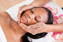 Woman having a massage Royalty Free Stock Photos