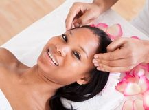 Woman Having A Massage Royalty Free Stock Photography